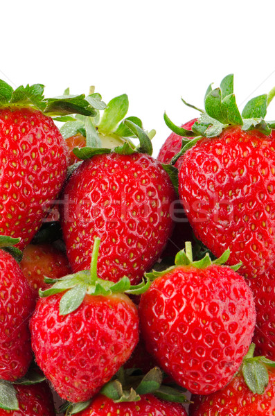 Appétissant fraises blanche fruits rouge fraise Photo stock © homydesign