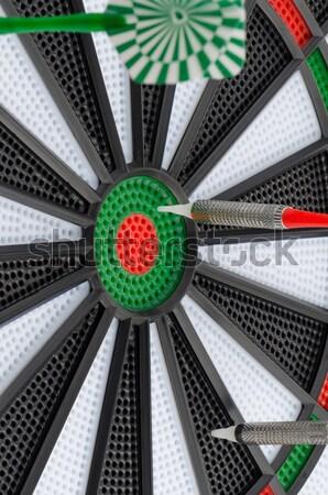 Dardo conselho dardos esportes verde Foto stock © homydesign