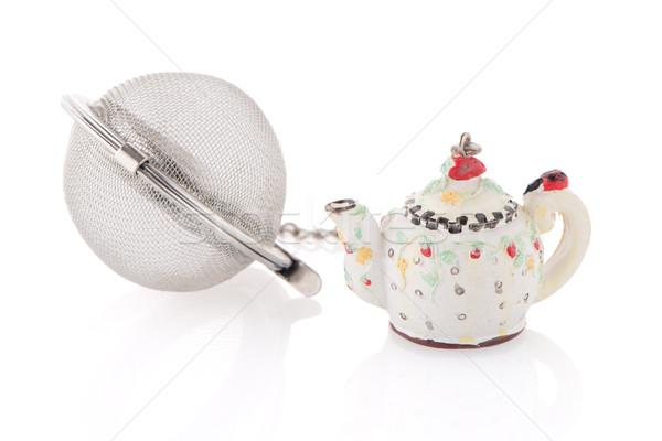 ストックフォト: 茶 · 白 · 金属 · ボール · スタジオ