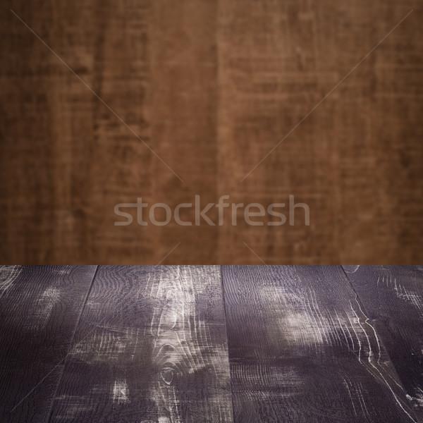 Madeira tabela parede árvore construção Foto stock © homydesign