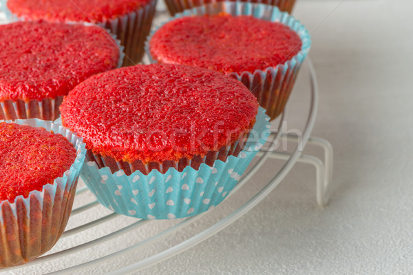 Beetroot velvet cupcakes  Stock photo © homydesign