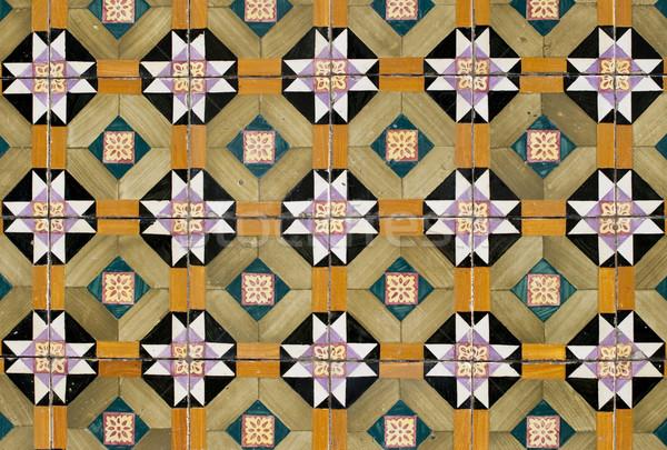 Portuguese glazed tiles 057 Stock photo © homydesign