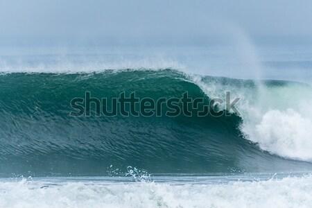 волны Португалия свет морем фон лет Сток-фото © homydesign