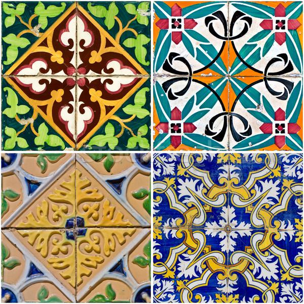 Stock photo: Vintage ceramic tiles