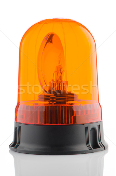 Narancs jelzőtűz fehér tükröződő orvosi háttér Stock fotó © homydesign