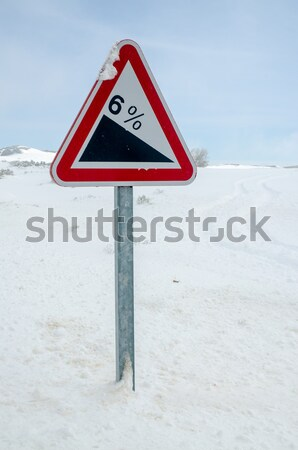 Dangerous curves sign Stock photo © homydesign