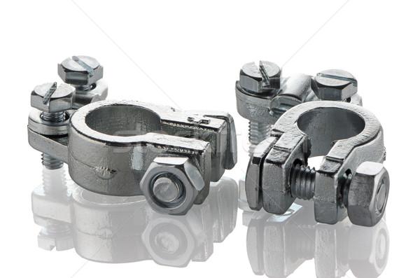 Car exhaust metal holder Stock photo © homydesign