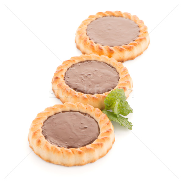 Chocolate tart cookies Stock photo © homydesign