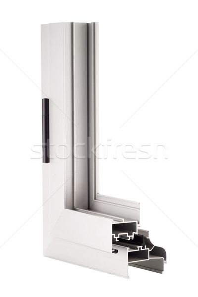Alumínium ablak minta izolált fehér épület Stock fotó © homydesign