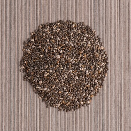 Circle of poppy seeds Stock photo © homydesign