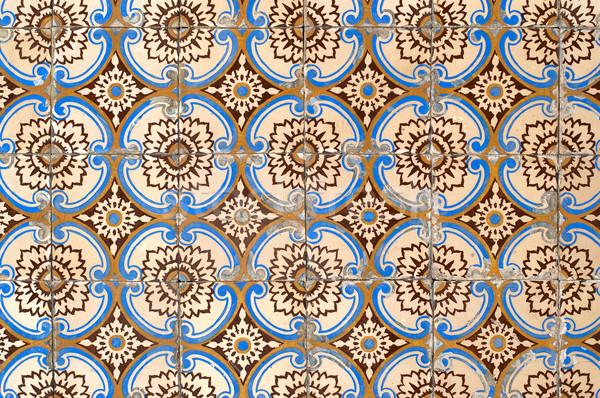 Portuguese glazed tiles 054 Stock photo © homydesign