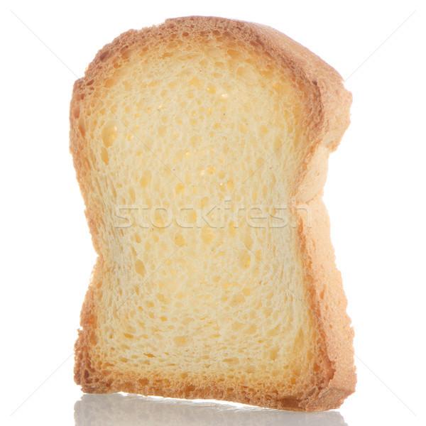 Plakje brood geroosterd geïsoleerd witte Rood Stockfoto © homydesign