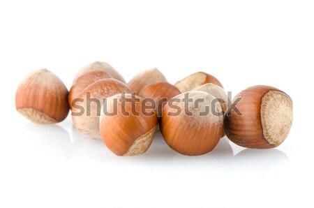 Vers hazelnoten witte voedsel Stockfoto © homydesign