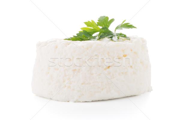 コテージチーズ パセリ 葉 孤立した 白 チーズ ストックフォト © homydesign