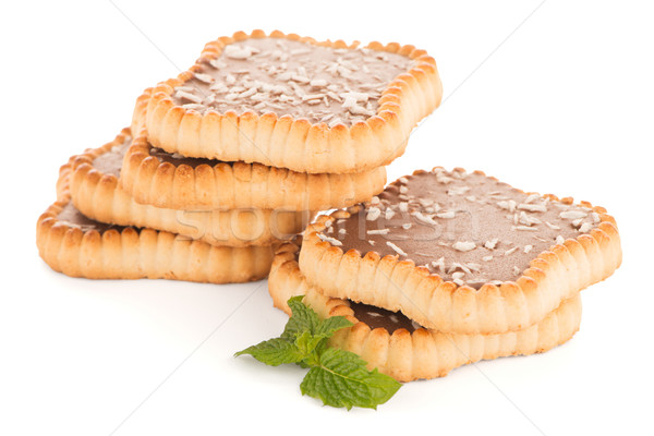 Chocolate and coconut tartlets Stock photo © homydesign