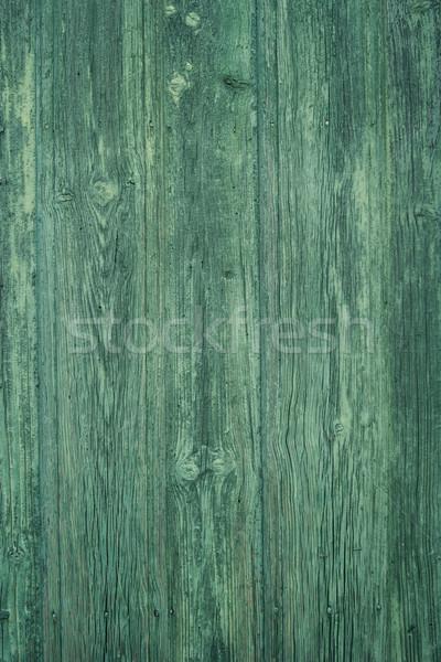 Stockfoto: Groene · geschilderd · houtstructuur · hout · oude