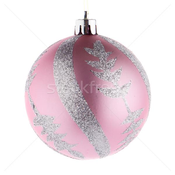 Pink christmas ball Stock photo © homydesign