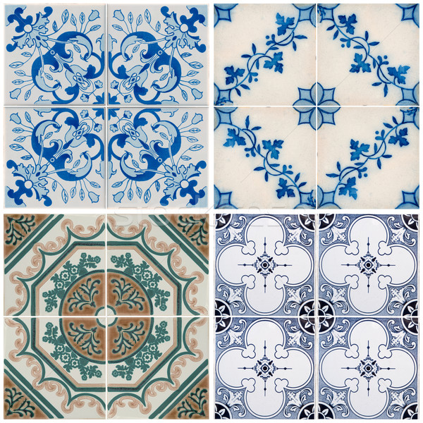 Vintage cerâmico azulejos colorido parede decoração Foto stock © homydesign
