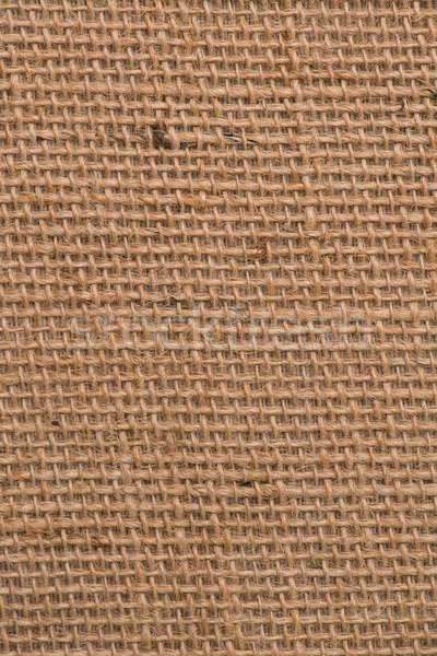 Zsákvászon textúra közelkép részlet építkezés absztrakt Stock fotó © homydesign