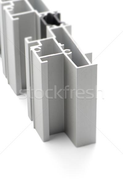 Aluminio perfil muestra aislado blanco casa Foto stock © homydesign