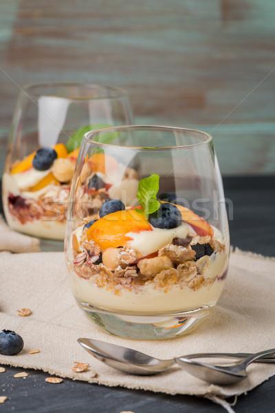 Cream and peach desert Stock photo © homydesign