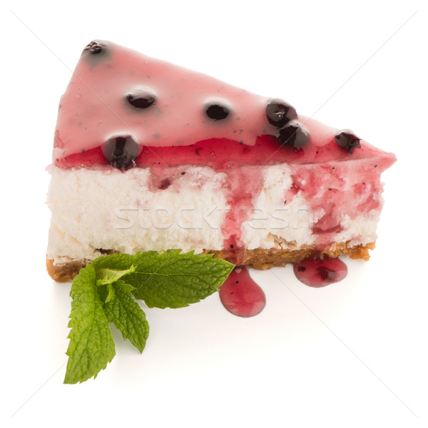 Cheese Cake slice Stock photo © homydesign