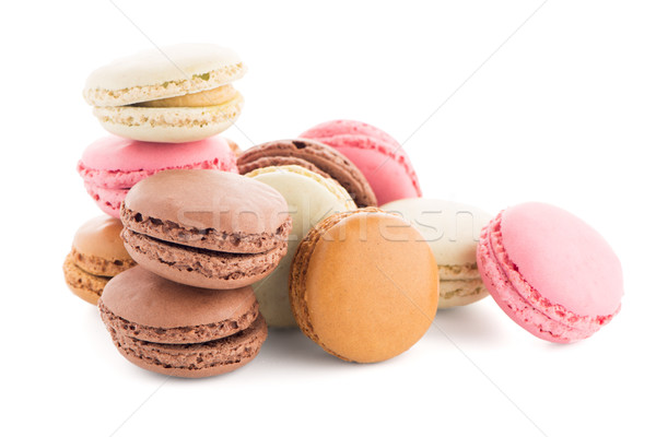 Colorful French Macarons Stock photo © homydesign