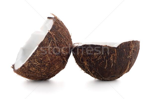 Kokosnoot geïsoleerd witte vruchten drinken olie Stockfoto © homydesign