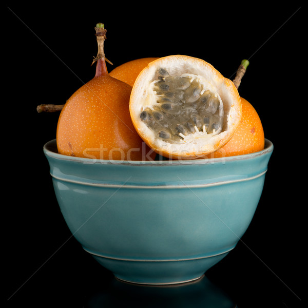 情熱 フルーツ セラミック 青 ボウル 黒 ストックフォト © homydesign