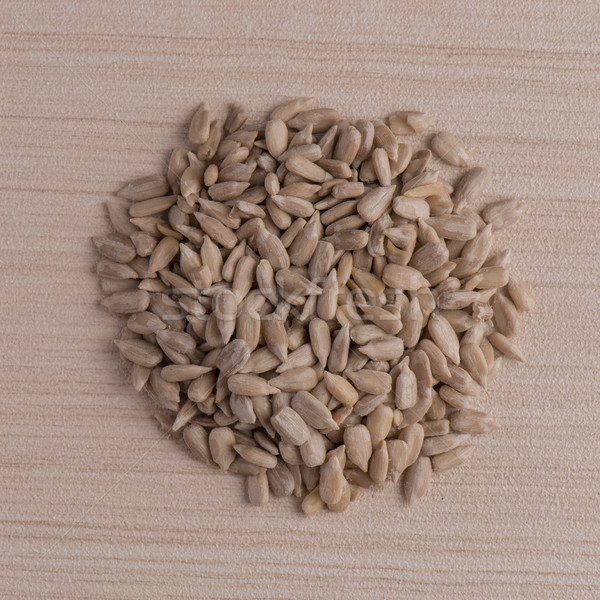 Circle of shelled sunflower seeds Stock photo © homydesign