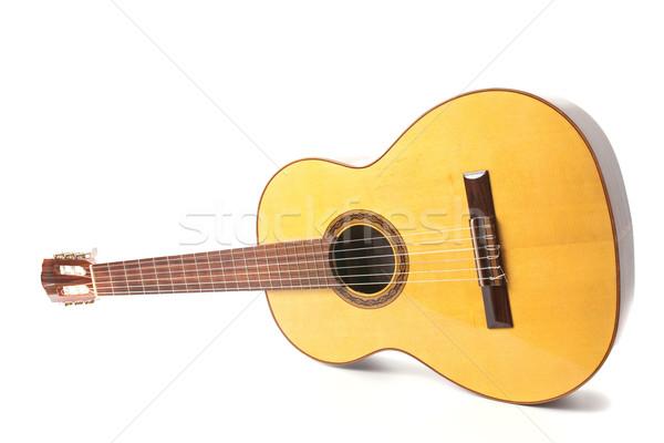Klasyczny gitara perspektywy widoku odizolowany biały Zdjęcia stock © homydesign
