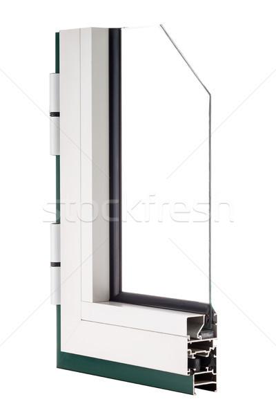 алюминий окна образец изолированный белый домой Сток-фото © homydesign
