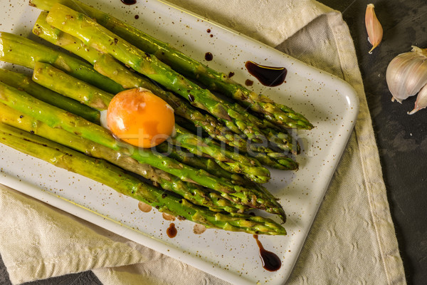 Asparagus cooked with egg  Stock photo © homydesign
