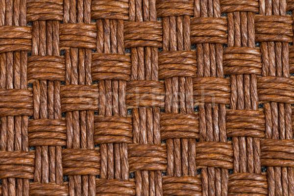 Brown wicker texture Stock photo © homydesign