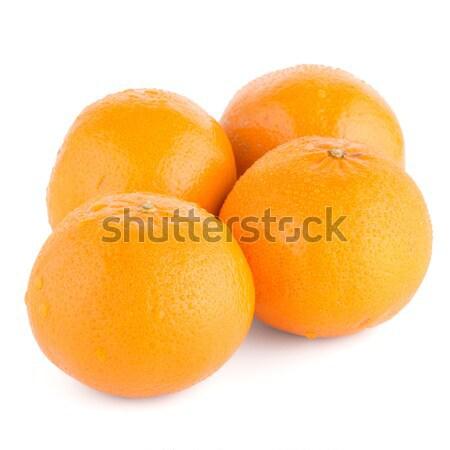Rijp mandarijn mandarijn- geïsoleerd witte voedsel Stockfoto © homydesign
