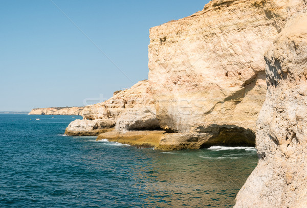 Rocky coastline near Carvoeiro Stock photo © homydesign