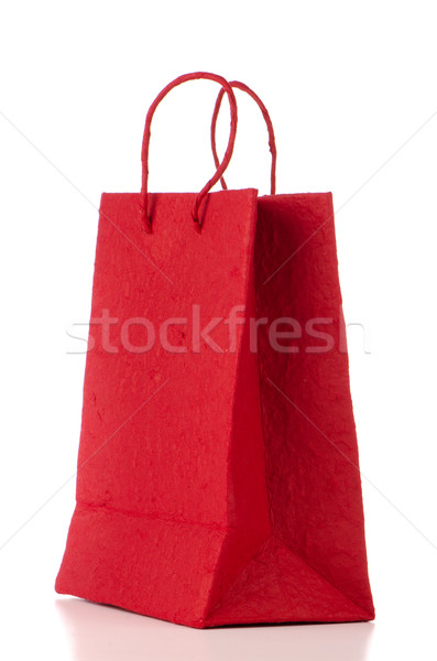 Red  paper bag Stock photo © homydesign