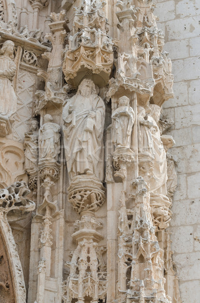 Sculptuur steen kerk steeg schoonheid Stockfoto © homydesign