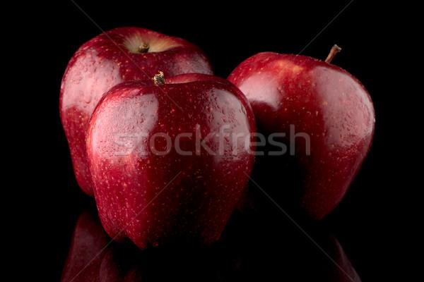 Foto stock: Fresco · vermelho · maçãs · água · preto