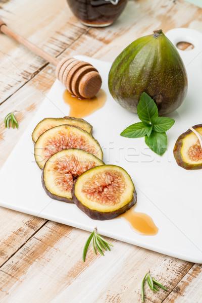 Figs and honey Stock photo © homydesign