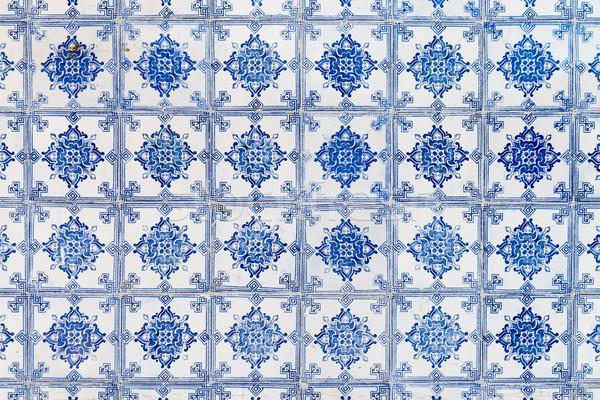 Traditional Portuguese glazed tiles Stock photo © homydesign