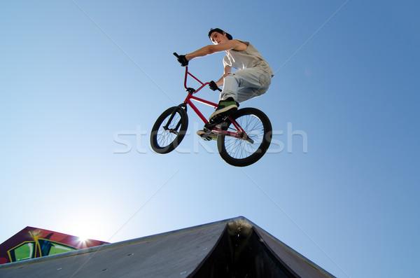Bicikli szenzáció asztal felső Stock fotó © homydesign