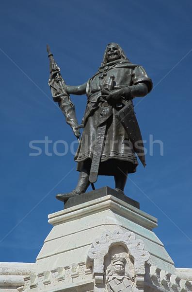 Count Pedro Ansurez statue Stock photo © homydesign