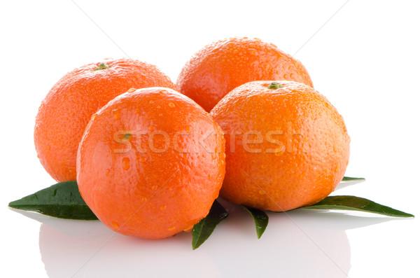 Ripe tangerines or mandarin Stock photo © homydesign