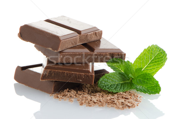 Closeup detail of chocolate parts Stock photo © homydesign