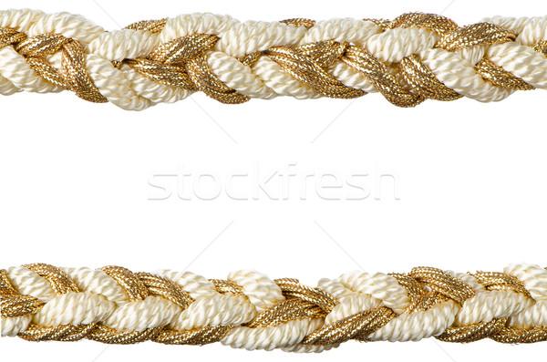 Stock photo:  Golden rope curtain tassels
