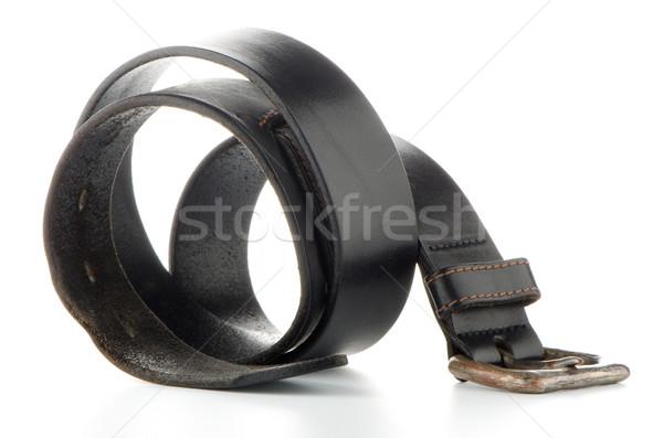 Cintura isolato pelle bianco maschio abbigliamento Foto d'archivio © homydesign