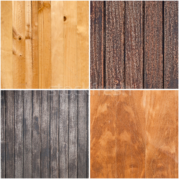 Set of wooden textures Stock photo © homydesign