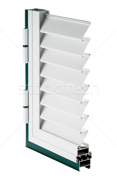 Aluminium okno próba odizolowany biały domu Zdjęcia stock © homydesign