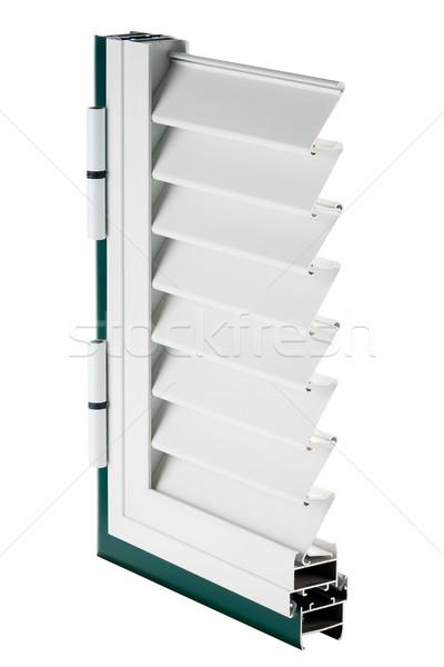 Stockfoto: Aluminium · venster · monster · geïsoleerd · witte · home